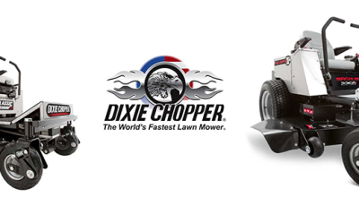 Selection of Dixie Chopper mowers offered by Power Mower Sales